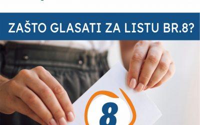 Zašto glasati za našu listu broj 8, nositelja Silvana Vlačića?